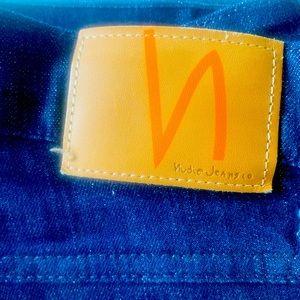 🌱 NUDIE Sz 32 'Slim Jim' Mens Blue Denim Jeans